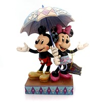 Jim Shore RAINY DAY ROMANCE Polyresin Micky & Minnie Mouse 4054280