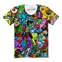 Trippy Faces Collage T-Shirt