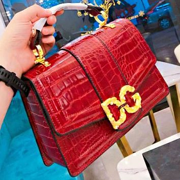 Dolce & Gabbana New fashion leather shoulder bag crossbody bag handbag Burgundy