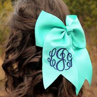 Monogrammed Solid Hair Bow