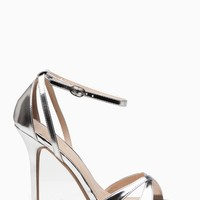 Silver Faux Leather Ankle Strap Cut Out Single Sole Heels @ Cicihot Heel Shoes online store sales:Stiletto Heel Shoes,High Heel Pumps,Womens High Heel Shoes,Prom Shoes,Summer Shoes,Spring Shoes,Spool Heel,Womens Dress Shoes