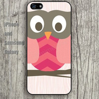 Chevron Owl pink cartoon iphone 6 6 plus iPhone 5 5S 5C case Samsung S3,S4,S5 case Ipod Silicone plastic Phone cover Waterproof
