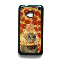 Cat iPhone Case Pizza Funny TV For HTC ONE M7/HTC ONE M8/HTC ONE M9 Phone case ZG