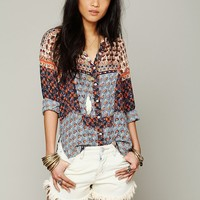 Free People FP ONE Mixed Print Top