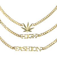 TRIPLE HI-FASHION NECKLACE