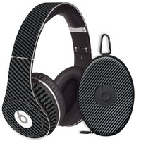 Textured Carbon Fiber Black Decal Skin for Beats Studio Headphones & Carrying Case by Dr. Dre