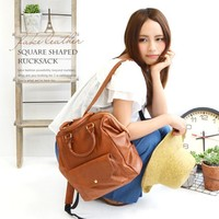 Stylish College On Sale Casual Back To School Comfort Hot Deal Rinsed Denim Korean Fashion Backpack [8958083015]