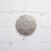 Cairo Star Cut Concrete Clock