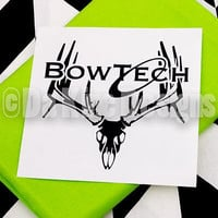 Hunting Decal - Deer Decal - Bowtech Decal - Buck Decal - Hunting Sticker - Deer Sticker - Deer Silhouette - Truck Decal - Car Decal -