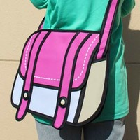 2D Anime Shoulder Bag (Pink)