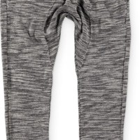 American Stitch Black Heather Double Zip Jogger Pants