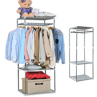 Fashion Portable Stainless Steel Clothes Hanger Organizer Clothes Floor Rack Garment Coat Bedroom Creative Hangers a2 S2