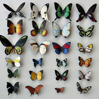 Butterfly Moth Magnets  Wholesale Lot of 24, Insects, Refrigerator Magnets, Handmade