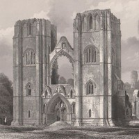 Antique Print The West Front of Elgin Cathedral Scotland (A61) by Grandpa's Market