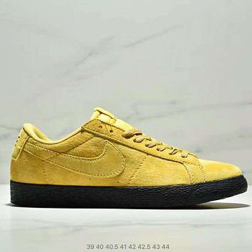 NIKE SB Zoom Blazer Low Men Fashion New Leisure Sports Sneakers Shoes Yellow