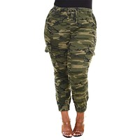 Cargo Camouflage Tight Pants