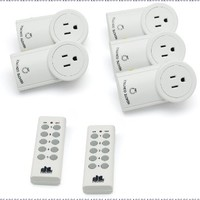 Etekcity ZAP 5LX Auto-Programmable Function Wireless Remote Control Outlet Light Switch with 2 Remotes, 5-Pack