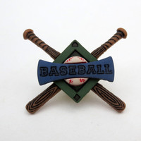 Baseball Pin Brooch Free Shipping Crossed Bats Base Stitching Jewelry Sports Fan Cute Little
