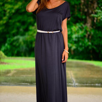 T-shirt Maxi Dress, Dark Gray