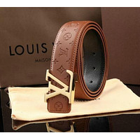 LOUIS VUITTON BELT GENUINE LEATHER BELT BELTS