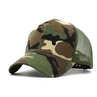 Sports Hat Cap trendy  Ditpossible Camouflage Mesh Patch Snapback Hats for Men Summer Outdoor Sports Cap Women Fitted Baseball Caps KO_16_1