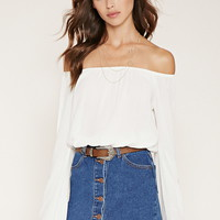 Off-The-Shoulder Peasant Top | Forever 21 - 2000182371