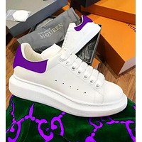 Onewel Alexander McQueen Classic Fashionable Women Men Casual Sports Running Shoes Sneakers Purple Tail