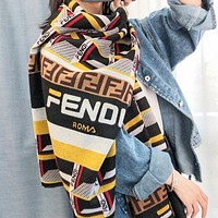Fendi New fashion more letter print leisure contrast color scarf women