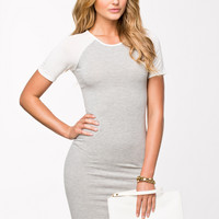 CONTRAST SLEEVE JERSEY DRESS - Bodycon dress by CLUB L ESSENTIALS