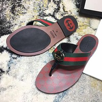 GG thong Web sandal slippers Shoes #1