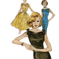 SEXY COCKTAIL DRESS Pattern Party Prom Dress Evening Gown Butterick 6582 Re-Issue 60s size 12 14 16  Womens Sewing Pattern Party Dress UnCUT