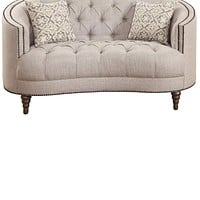 Astonishing Loveseat, Beige-Coaster