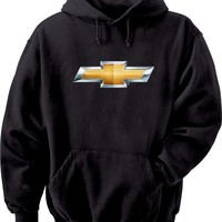 Chevrolet Bowtie Chevy Hooded Sweatshirt, Black, Large