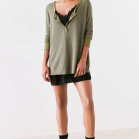 Project Social T Seaside Thermal Henley Top - Urban Outfitters
