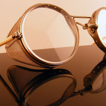 American Optical Driving Goggles Antique Steampunk by TidBitz