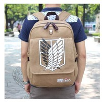Cool Attack on Titan High Q ANIME  backpack unisex school student canvas  backpack AT_90_11