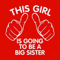 Children kids t-shirt. This girl is going to be a big sister t-shirt. T-shirt for girls pregnancy announcement