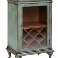 Gemma 1 Door Rolling Wine Cabinet - 13174- Stein World