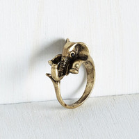 Urban Trumpets for Crumpets Ring in Gold by ModCloth