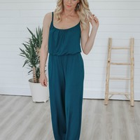 Feeling Fine Jumpsuit - Teal