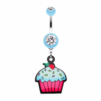 Cupcake sweets Belly Button Ring