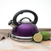 Creative Home Alexa 3.0 Whistling Tea Kettle, Purple