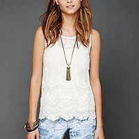 Free People Clothing Boutique > Embroidered Mesh Cami