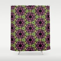 Abstract Circles Shower Curtain by kasseggs
