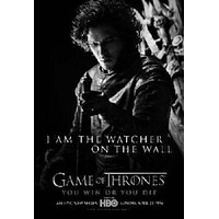 "Game Of Thrones Poster Black and White Mini Poster 11""x17"""