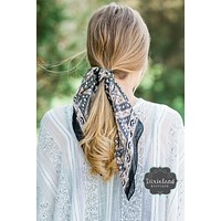 Black and Mocha Hair Scarf
