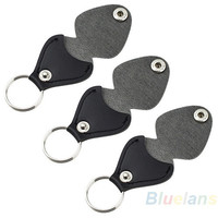 Leather Key Chain Guitar Picks Holder Keychain Plectrums Bag Case = 1931923076