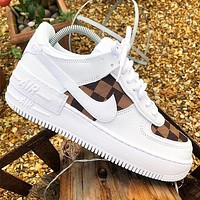 LV x Nike Air Force One Fashion Casual Shoes