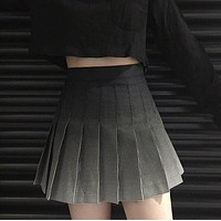 Gradient Grid Skirts