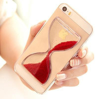 Dynamic Liquid Glitter Sand Quicksand Hourglass Case For iphone 6 Crystal Clear Cell phone Back Cover For iphone 6 4.7 inch
